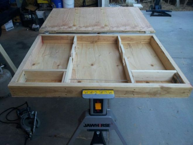 Hidden gun case out of pallets and wood throw an awesome
