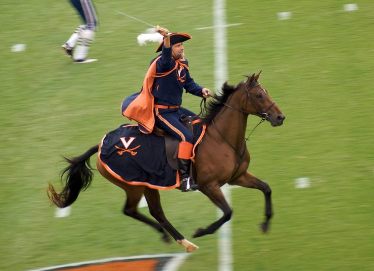 UVA Virginia Cavaliers mascot The Cavalier on