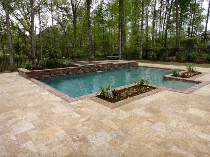Deck & Pool example Simple And Neat Outdoor Space Design