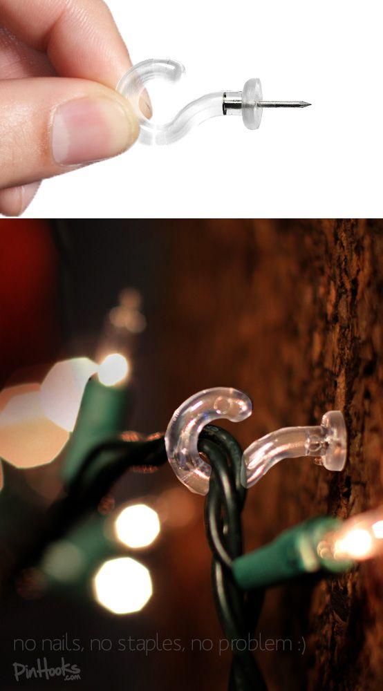 how to hang christmas lights outside