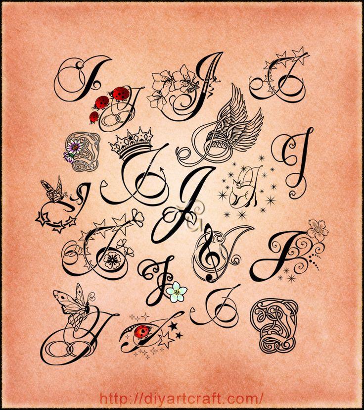 lettering tattoo J poster Tattoos Pinterest