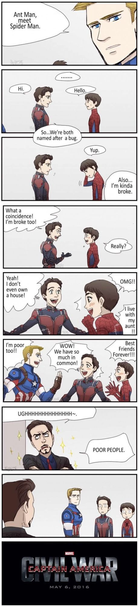 Got a problem, Stark? I first I was giggling and now I'm dying of laughter when Tony said