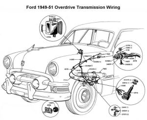 Wiring diagram for 194951 Ford OD | Wiring | Pinterest | Ford