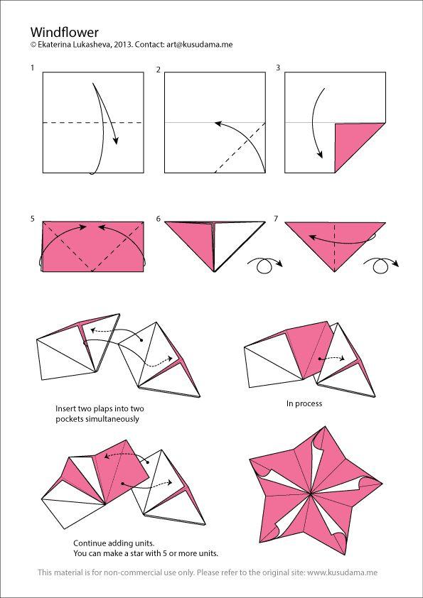 Diagram For Windflower Kusudama Estrellas 2D Pinterest