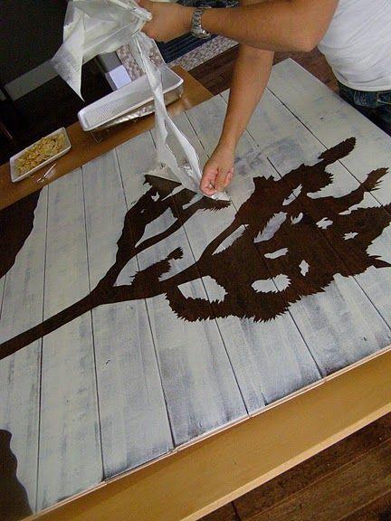 DIY stencil art