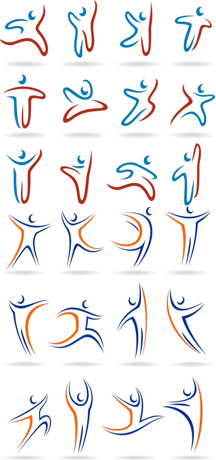 Linear human logos vector Design Pinterest Logos