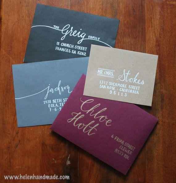 Custom Hand Addressed Envelopes Wedding Amp Party