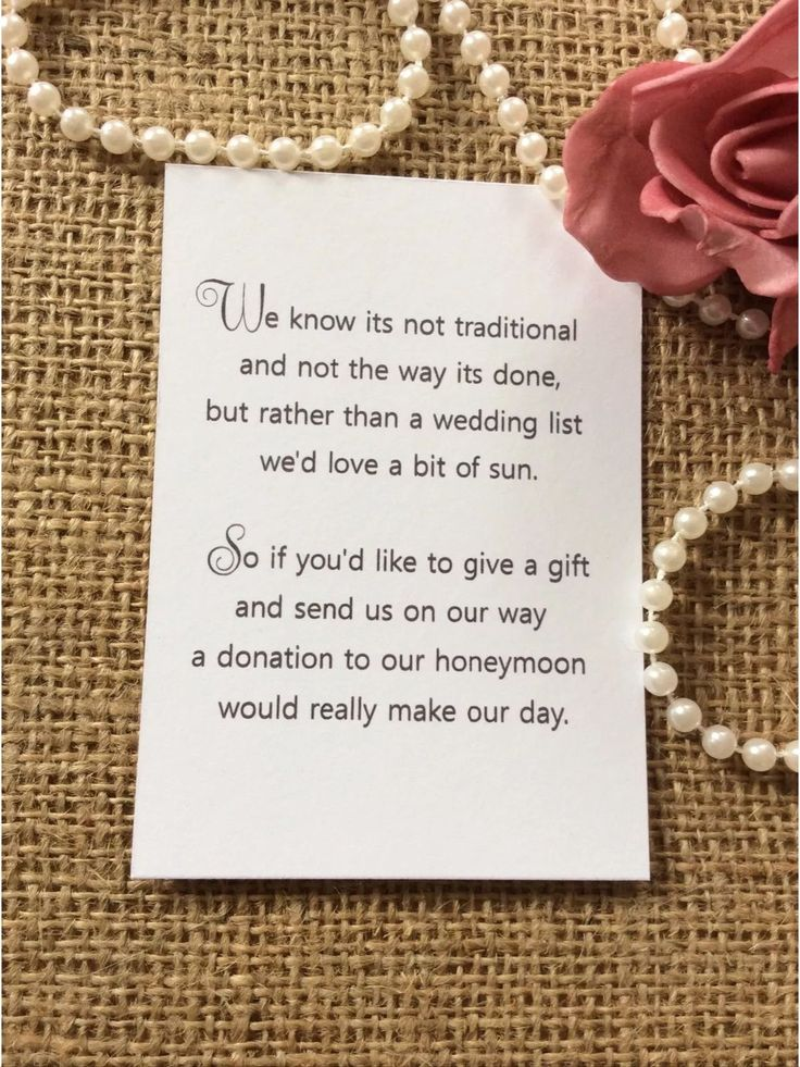 25 50 wedding gift money poem small cards asking for