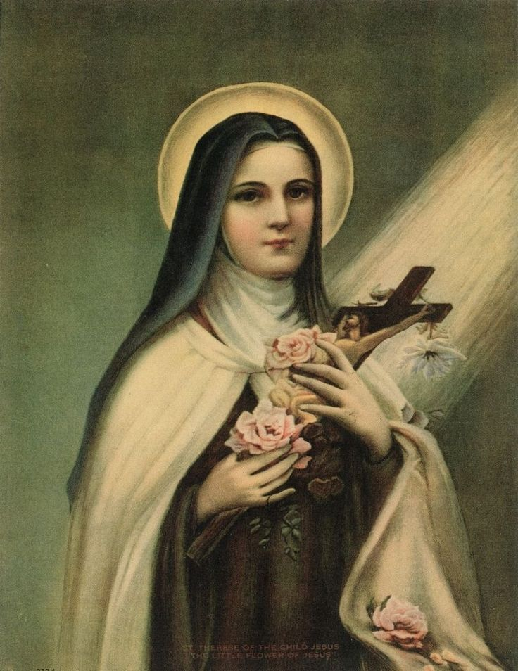 Catholic Art Print Picture ST.THERESE OF LISIEUX, The