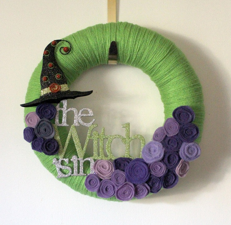 Witch Wreath  would be cute if people knew you were a Witch and/or if you had an