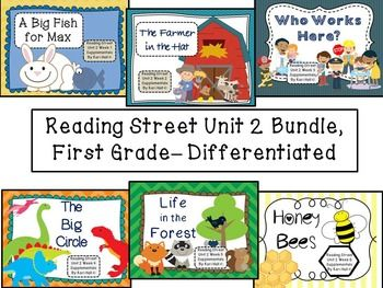 Reading Street Unit 2 First Grade Bundle Differentiated
