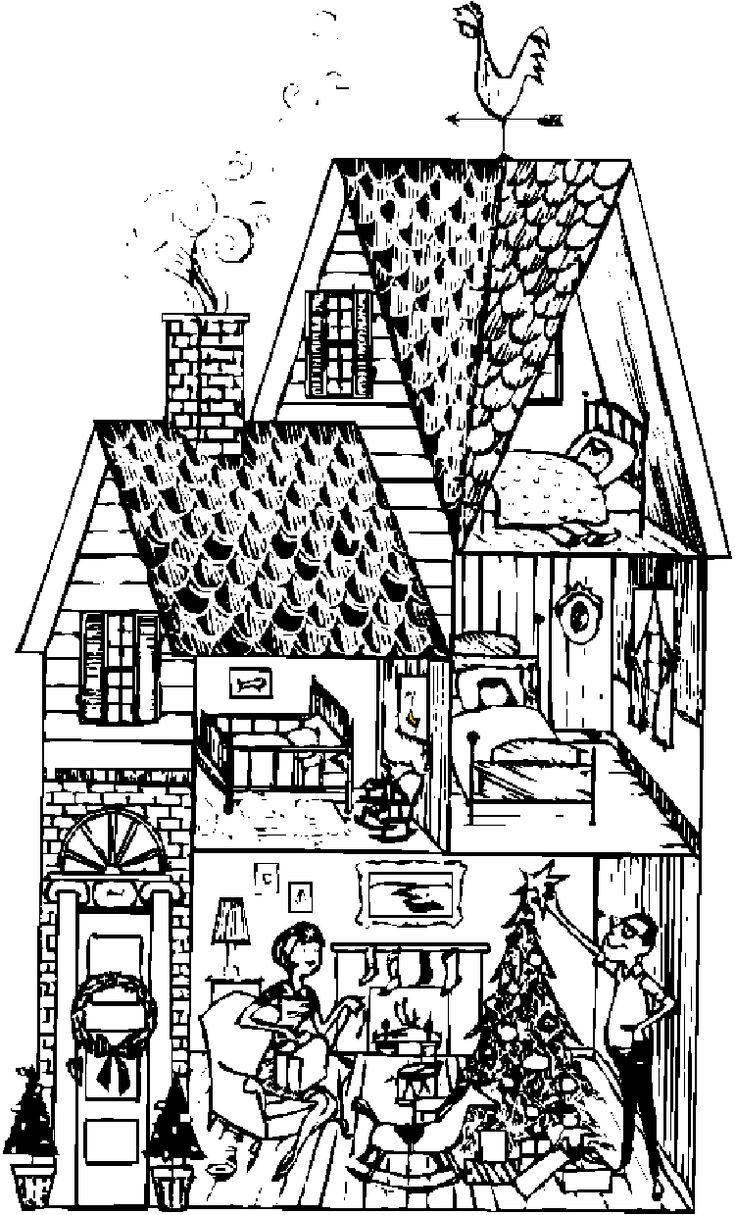 Houses to Color and Print for adults girls and kids