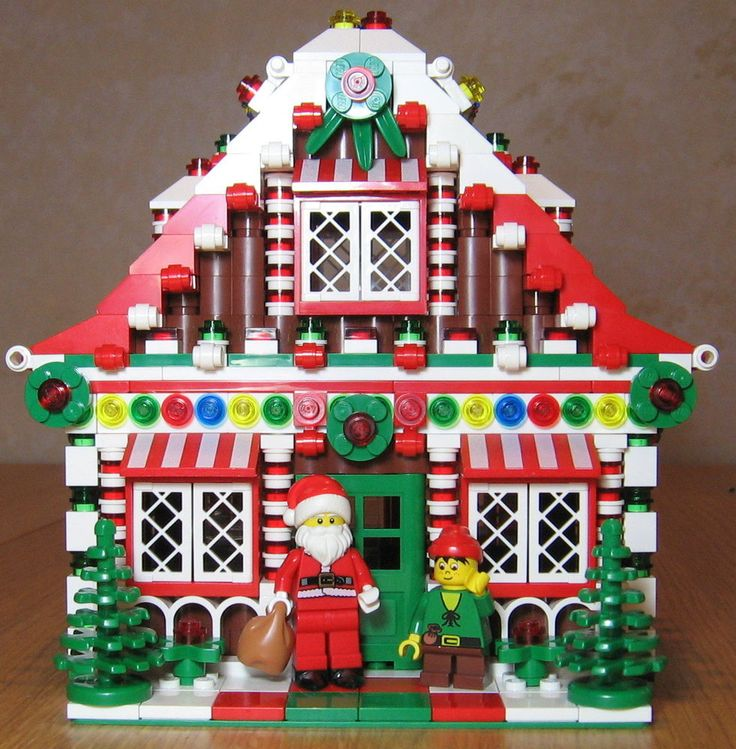 LEGO Custom Gingerbread House Christmas Train Holiday City