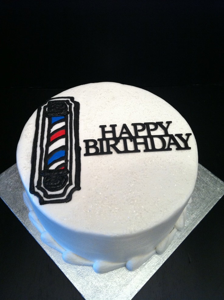 Barber Pole Birthday Cake Cakes Pinterest Barbers
