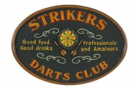 Strikers Darts Club Sign BilliardDart Signs Pinterest
