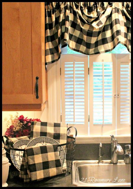 21 Rosemary Lane A Few New Items For My Kitchen Black And White Buffalo Check Cozy Cottage