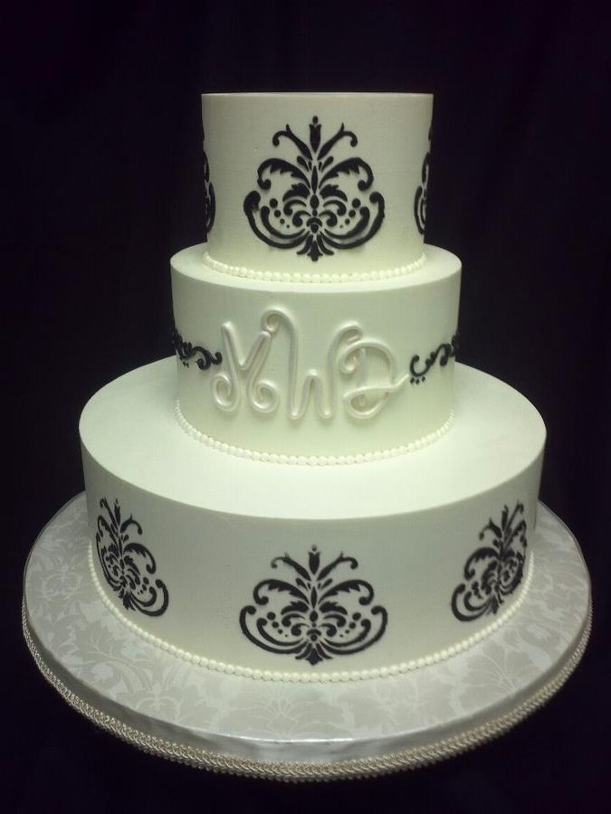 83 Best Images About Black And White Cakes On Pinterest