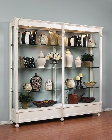 Retail Store Fixture White Display Shelving Furniture With