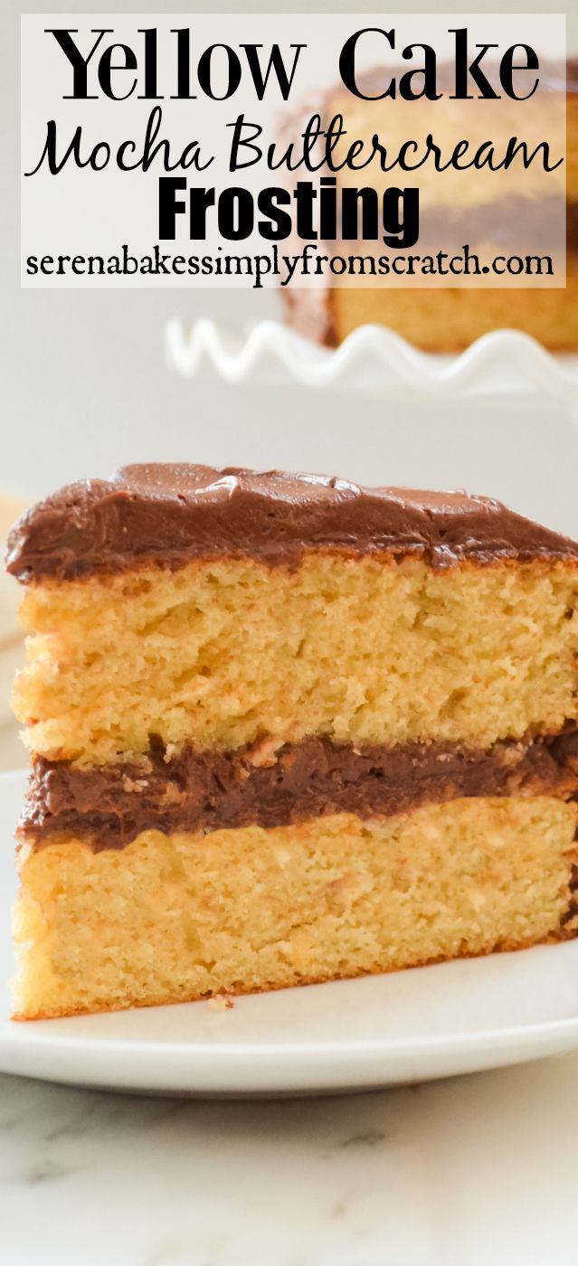 Moist Yellow Cake With Bittersweet Chocolate Frosting