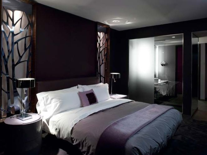 Black Walls Ideas For Your Modern Interiors 32 Examples Dark Bedroomspurple Bedroomshotel Bedroomsmodern Bedroomsmaster