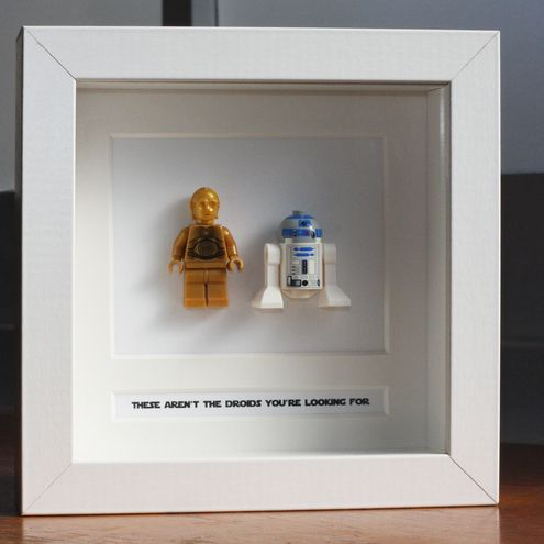 I could easily do this myself – frame Star Wars Legos with captions. LOVE this i