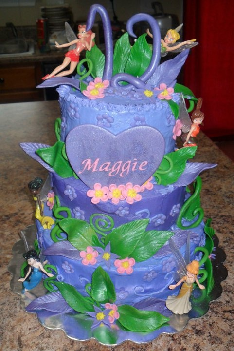 Love This Cake Disney Fairies Design Random Cake Ideas