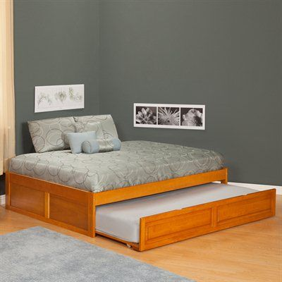 Simple Full Size Trundle Bed With Twin Second Mattress