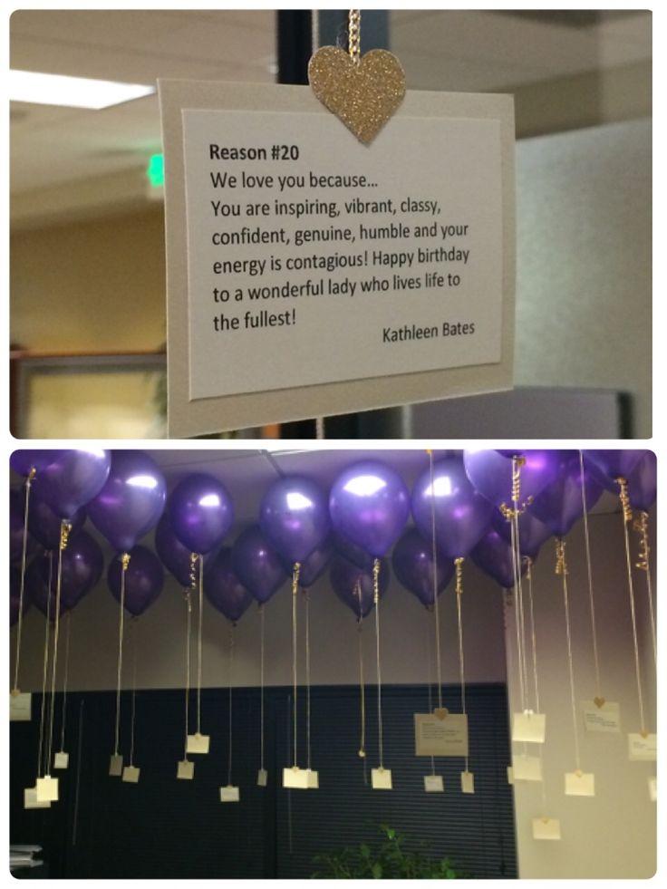 50th Birthday Office Celebration 50 Balloons 50 Reasons