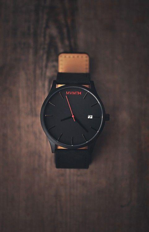 MVMT × Leather Strap minimalistic