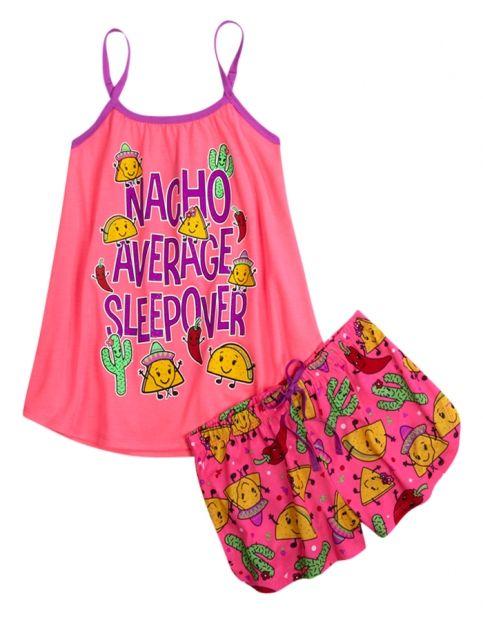 Nacho Average Sleepover Pajama Set | Girls Pajamas Pjs, Bras & Panties | Shop Justice