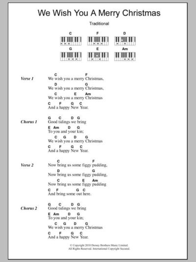 ukulele lyrics and chords we wish you a merry christmas ...