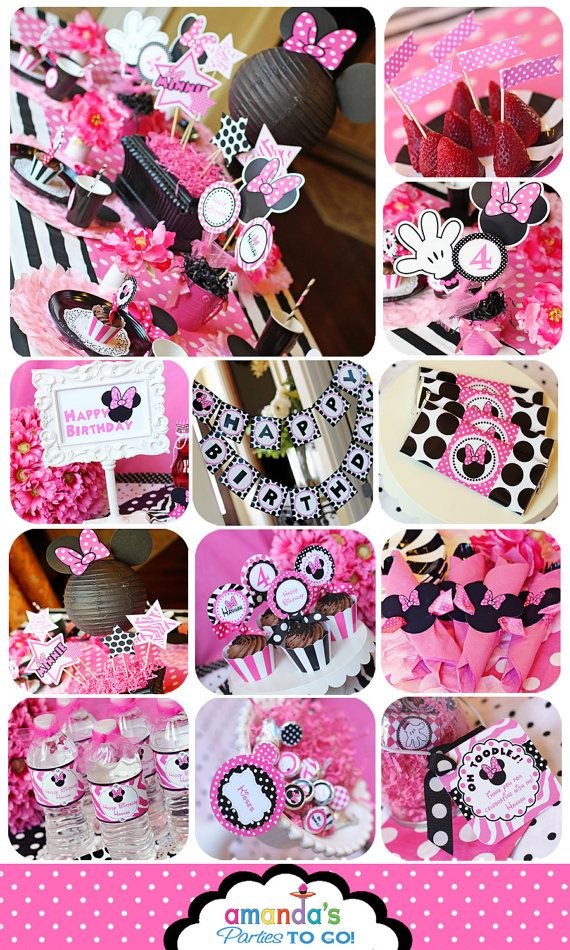 Minnie Mouse Party – Birthday Party Inspired by Minnie Mouse – Zebra – HUGE Prin