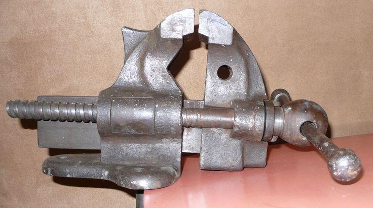 Rare Vtg 1911 Chas Parker 870 Offset Vise Anvil