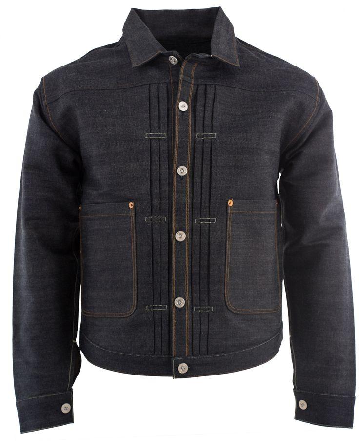 Levi S Vintage Clothing 1878 Triple Pleat Blouse Indigo