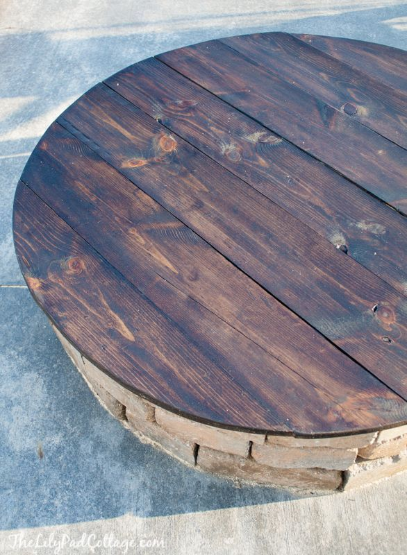 DIY Fire Pit Table Top Fire pits, Round dining and Cottages