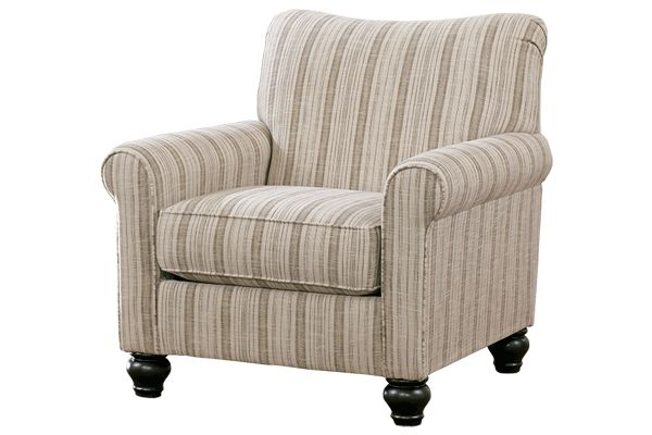 Ashley Furniture Milari Accent Chair Linen Striped