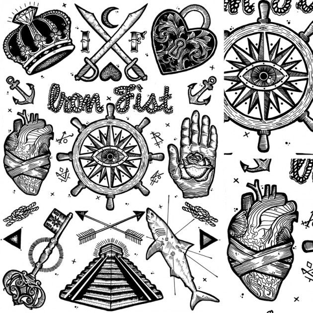 Tattoos and macabre iconography by Tom Gilmour Makey
