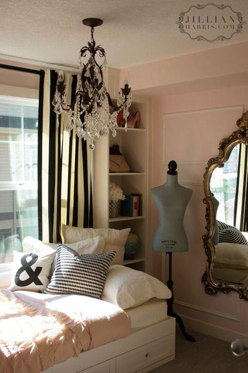 Jillian Harris Girls Bedroom Soft Pink Walls Black