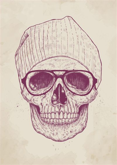 """Cool skull"" Art Print by Balázs Solti on Society6."