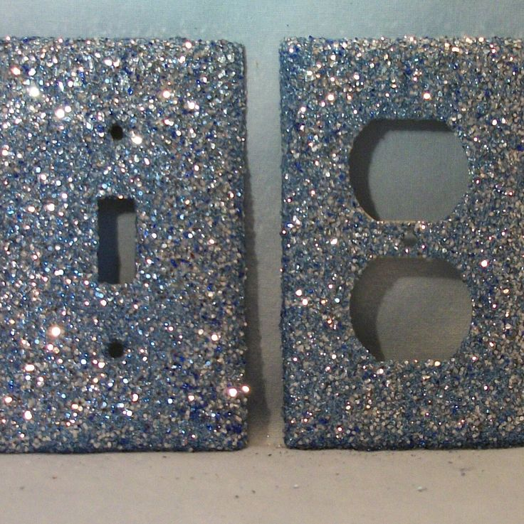 glitter light switch plate! Did this with modge podge and