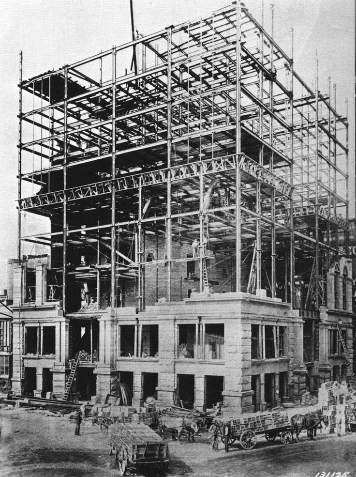 Building of the first skyscrapers 19th Century Avatar