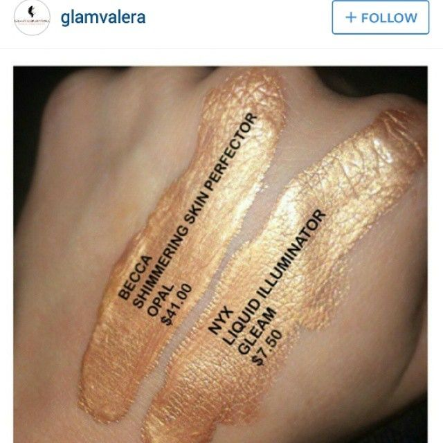 #dupes Becca shimmering skin perfector highlighter in opal Nyx dupe