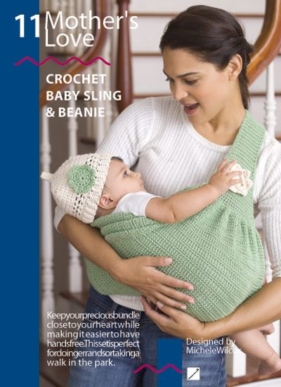 Baby Sling Crochet Pattern Red Heart Book Eco Living