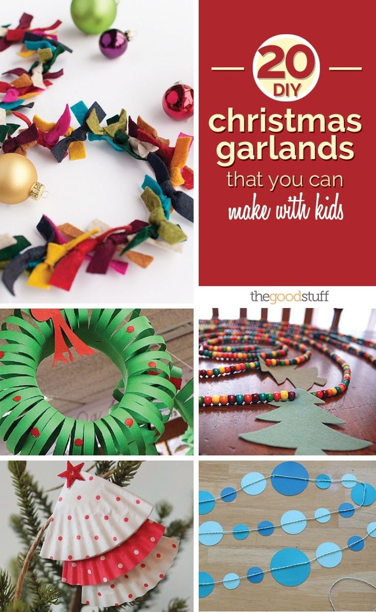 20 DIY Christmas Garlands That You Can Make With Kids