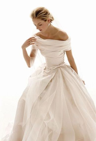 Holy Smokes! Love this. Le Spose di Gio Off the Shoulder Wedding Dress