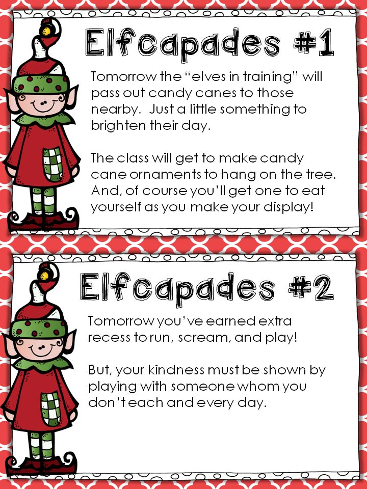 Elfcapades {Elf in the Classroom + Random Acts of Kindness