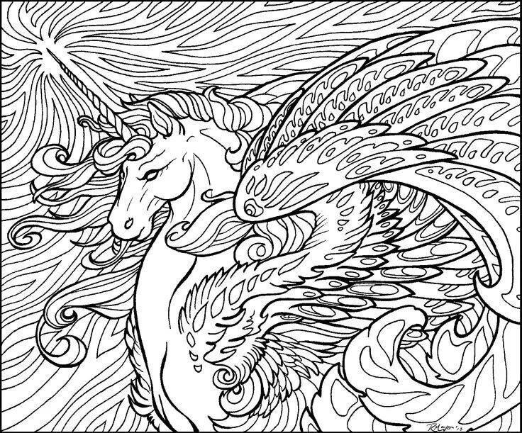 unicorns coloring pages and horse coloring pages on pinterest