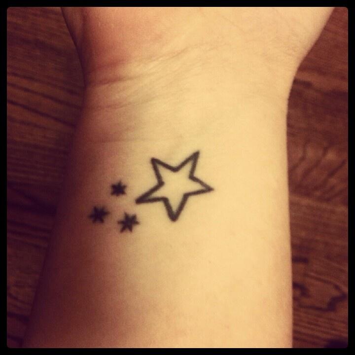 My (right) wrist tattoo. Harry Potter book stars & star