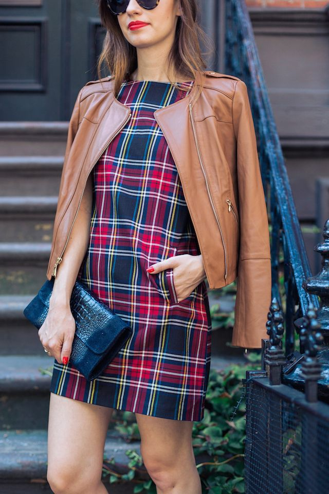Brown leather jacket from white house black market with