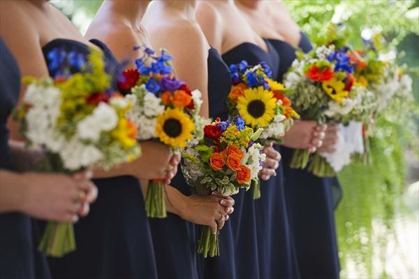 Texas Wildflower Bridesmaids Bouquets